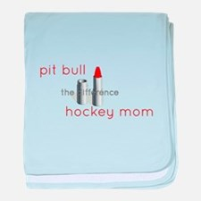 Cute Palin lipstick hockey mom baby blanket