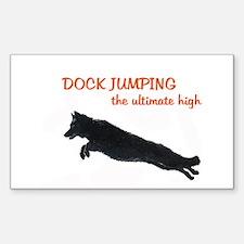 dock jumper Sticker (Rectangle)