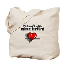 Richard Castle makes my heart throb Tote Bag
