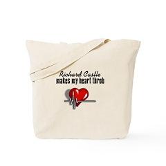 Richard Castle makes my heart throb Tote Bag