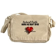 Richard Castle makes my heart throb Messenger Bag