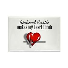 Richard Castle makes my heart throb Rectangle Magn