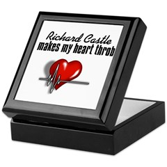 Richard Castle makes my heart throb Keepsake Box