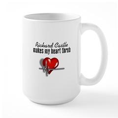 Richard Castle makes my heart throb Large Mug