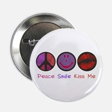"Smile & Kiss ME! 2.25"" Button"