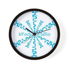 Unique Shredding Wall Clock