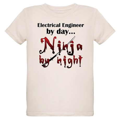 Electrical Engineer Ninja Organic Kids T-Shirt