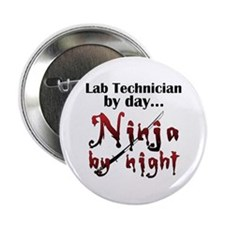 "Lab Technician Ninja 2.25"" Button"