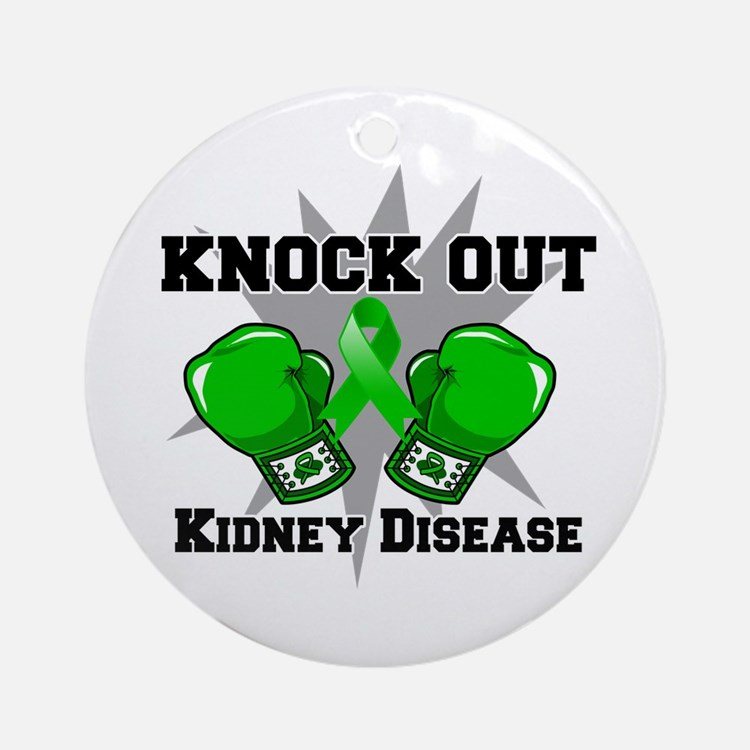 Knock Out Kidney Disease Ornament (Round)