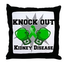 Knock Out Kidney Disease Throw Pillow