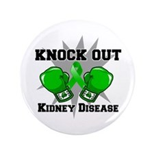 "Knock Out Kidney Disease 3.5"" Button"