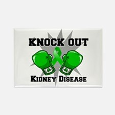 Knock Out Kidney Disease Rectangle Magnet