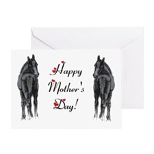 Two Foals Horse Greeting Card