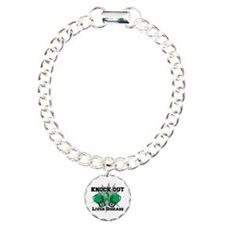 Knock Out Liver Disease Charm Bracelet, One Charm
