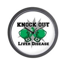 Knock Out Liver Disease Wall Clock