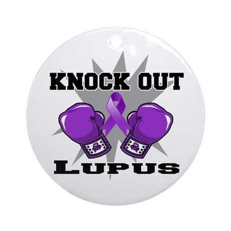 Knock Out Lupus Ornament (Round)