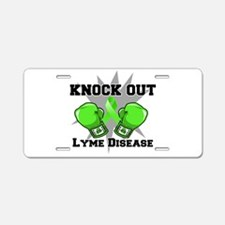 Knock Out Lyme Disease Aluminum License Plate
