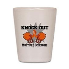 Knock Out Multiple Sclerosis Shot Glass