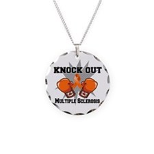 Knock Out Multiple Sclerosis Necklace Circle Charm