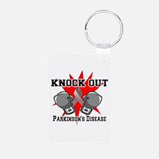 Knock Parkinsons Disease Aluminum Photo Keychain
