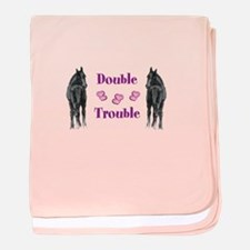 Two Foals Horse baby blanket
