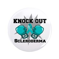 "Knock Out Scleroderma 3.5"" Button"