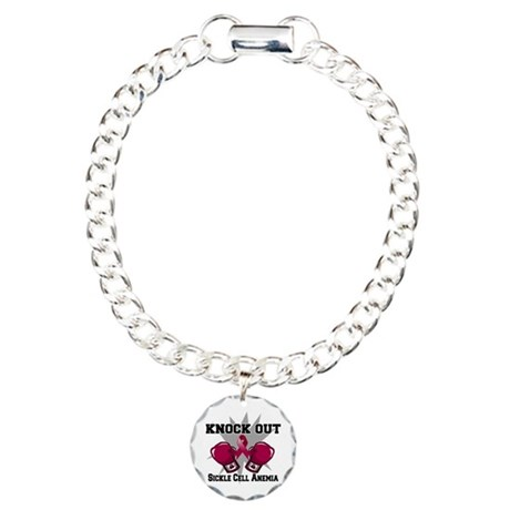 Knock Out Sickle Cell Anemia Charm Bracelet, One C