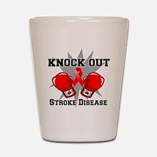 Knock Out Stroke Disease Shot Glass