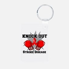 Knock Out Stroke Disease Keychains