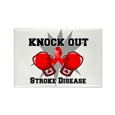 Knock Out Stroke Disease Rectangle Magnet