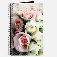 Cream & Pink Hazy Rose Bouquet Wedding Guest Book
