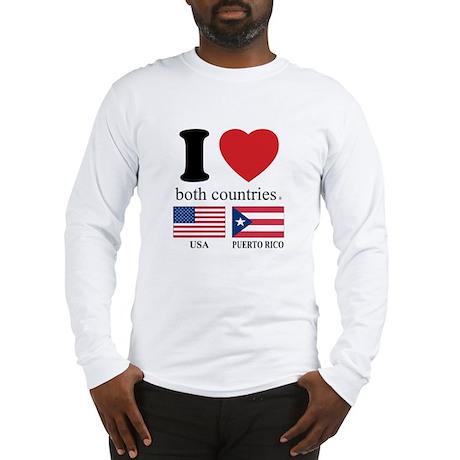 USA-PUERTO RICO Long Sleeve T-Shirt