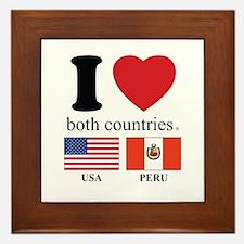 USA-PERU Framed Tile