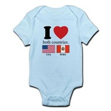 USA-PERU Infant Bodysuit