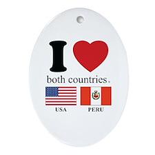 USA-PERU Ornament (Oval)