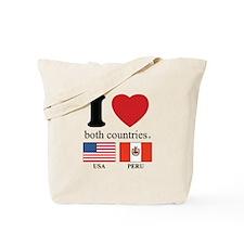 USA-PERU Tote Bag