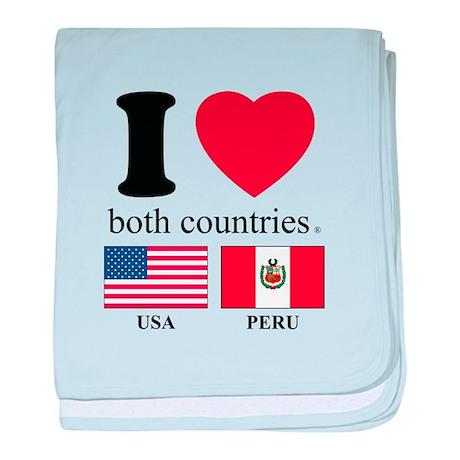 USA-PERU baby blanket