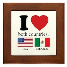 USA-MEXICO Framed Tile