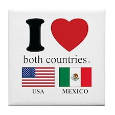USA-MEXICO Tile Coaster