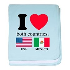 USA-MEXICO baby blanket