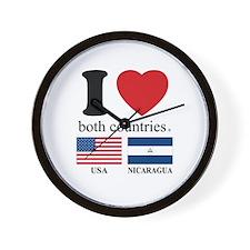 USA-NICARAGUA Wall Clock