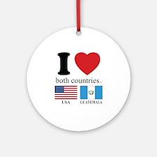 USA-GUATEMALA Ornament (Round)