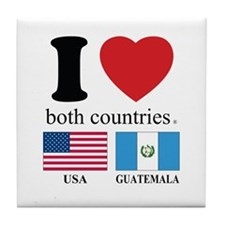USA-GUATEMALA Tile Coaster