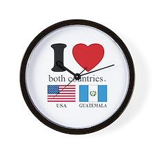 USA-GUATEMALA Wall Clock