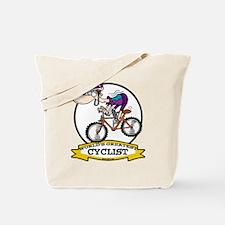 WORLDS GREATEST CYCLIST MEN CARTOON Tote Bag