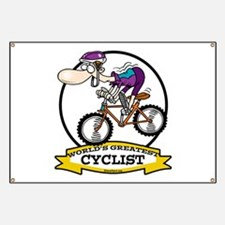 WORLDS GREATEST CYCLIST MEN CARTOON Banner