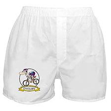 WORLDS GREATEST CYCLIST MEN CARTOON Boxer Shorts