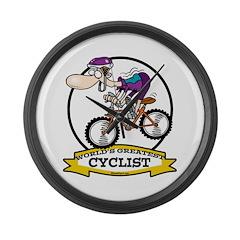 WORLDS GREATEST CYCLIST MEN CARTOON Large Wall Clo