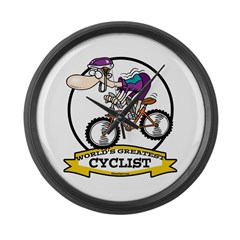WORLDS GREATEST CYCLIST MEN CARTOON Large Wall Clo