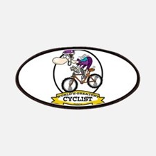 WORLDS GREATEST CYCLIST MEN CARTOON Patches